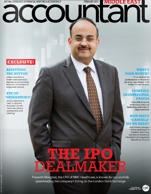 Accountant ME features Mr. Prasanth Manghat, CFO, NMC Healthcare