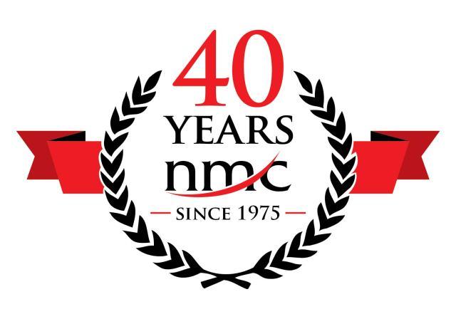 NMC 40 years logo